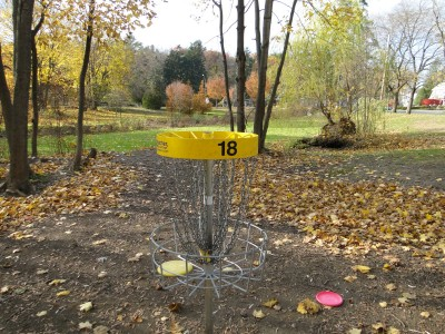 Central Park Schenectady, Main course, Hole 18 Reverse (back up the fairway)
