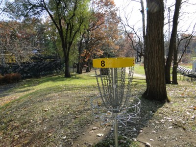Central Park Schenectady, Main course, Hole 8 Reverse (back up the fairway)