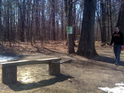 Central Park Schenectady, Main course, Hole 4 Long tee pad