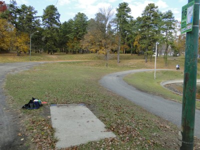 Central Park Schenectady, Main course, Hole 16 Long tee pad