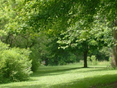 Steen Park, Main course, Hole 9 Tee pad