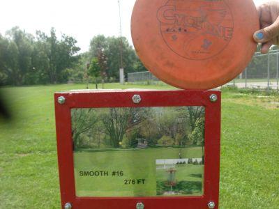 Steen Park, Main course, Hole 16 Hole sign