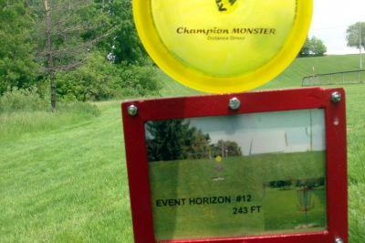 Steen Park, Main course, Hole 12 Hole sign