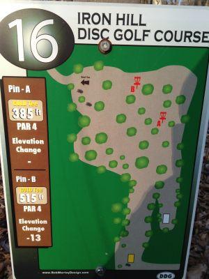 Iron Hill, Main course, Hole 16