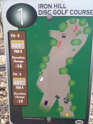 Iron Hill, Main course, Hole 1