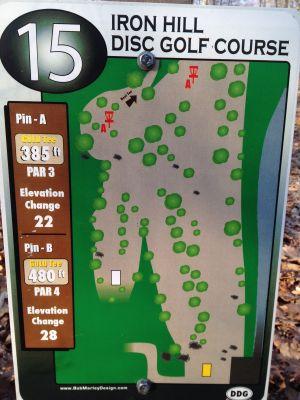 Iron Hill, Main course, Hole 15