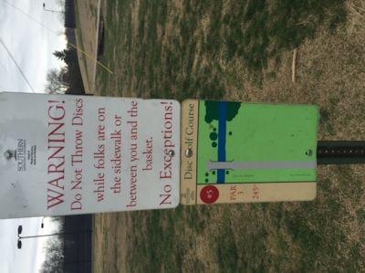 Southern Adventist University, Main course, Hole 5 Hole sign