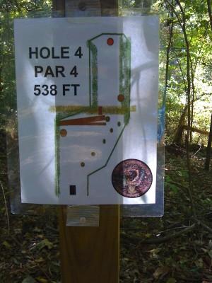 Nevin Park, Main course, Hole 4 Hole sign