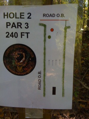 Nevin Park, Main course, Hole 2 Hole sign
