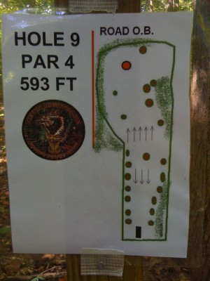 Nevin Park, Main course, Hole 9 Hole sign