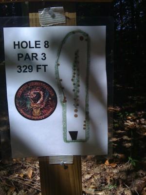 Nevin Park, Main course, Hole 8 Hole sign