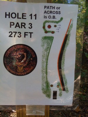 Nevin Park, Main course, Hole 11 Hole sign