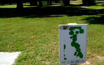 Pine Oaks, Main course, Hole 6 Hole sign