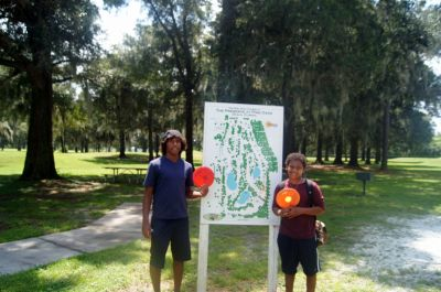 Pine Oaks, Main course, Hole 18 Hole sign
