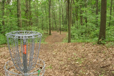 BlueGill Disc Golf Course, Main course, Hole 15 Reverse (back up the fairway)