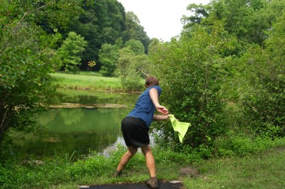 BlueGill Disc Golf Course, Main course, Hole 10 Tee pad