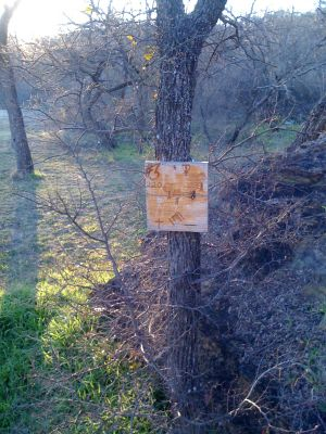 Firemen's Park, Main course, Hole 3 Hole sign