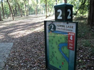 Towne Lake, Main course, Hole 2 Hole sign