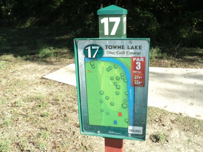 Towne Lake, Main course, Hole 17 Hole sign