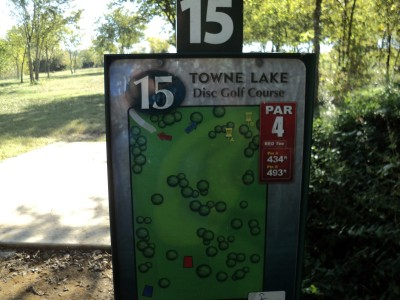 Towne Lake, Main course, Hole 15 Hole sign