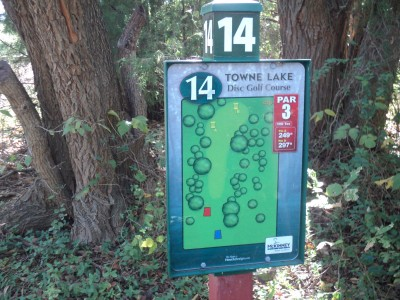 Towne Lake, Main course, Hole 14 Hole sign