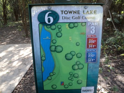 Towne Lake, Main course, Hole 6 Hole sign