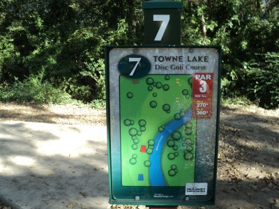 Towne Lake, Main course, Hole 7 Hole sign