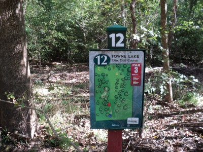 Towne Lake, Main course, Hole 12 Hole sign