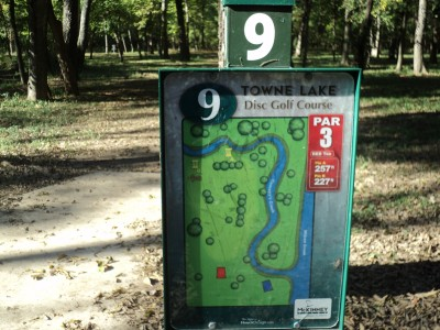 Towne Lake, Main course, Hole 9 Hole sign