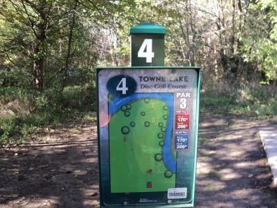 Towne Lake, Main course, Hole 4 Hole sign