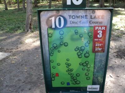 Towne Lake, Main course, Hole 10 Hole sign