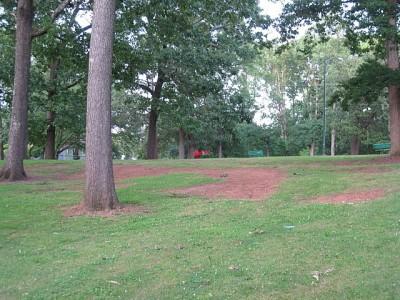 Perkerson Park, Main course, Hole 2 Midrange approach