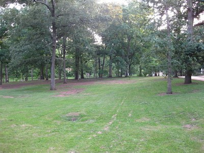 Perkerson Park, Main course, Hole 3 Long approach