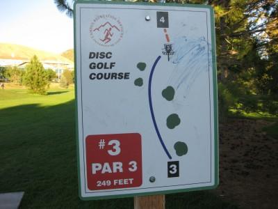 University of Utah, Main course, Hole 3 Hole sign