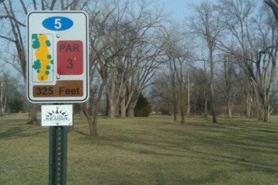 Fairmont Park, Main course, Hole 5 Hole sign
