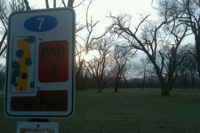 Fairmont Park, Main course, Hole 7 Hole sign