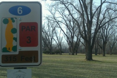 Fairmont Park, Main course, Hole 6 Hole sign