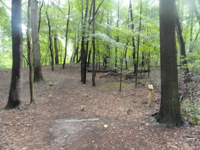 Portage Lakes DGC, Main course, Hole 17 Short tee pad