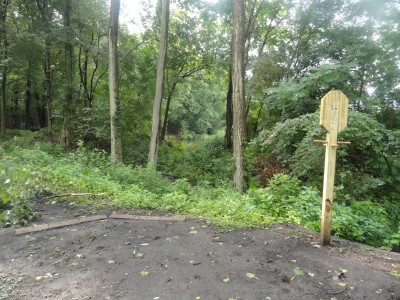 Portage Lakes DGC, Main course, Hole 16 Long tee pad