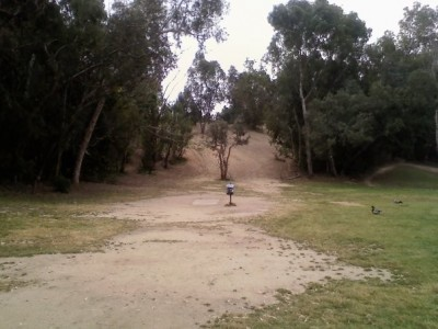 Huntington Beach Central Park, Main course, Hole 3 Tee pad