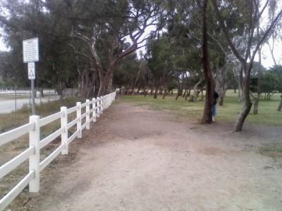 Huntington Beach Central Park, Main course, Hole 11 Tee pad