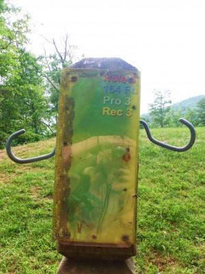 Camp Rockmont for Boys, Camp Rockmont Disc Golf Course , Hole 3 Hole sign