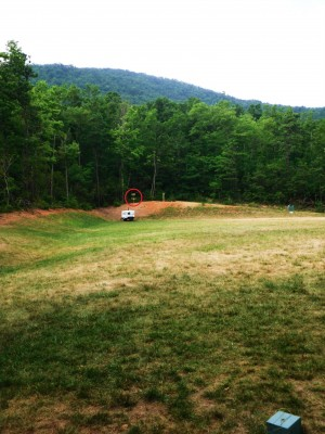 Camp Rockmont for Boys, Camp Rockmont Disc Golf Course , Hole 4 Tee pad