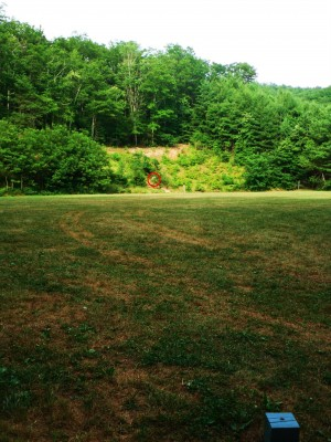 Camp Rockmont for Boys, Camp Rockmont Disc Golf Course , Hole 13 Tee pad