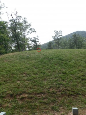 Camp Rockmont for Boys, Camp Rockmont Disc Golf Course , Hole 3 Tee pad