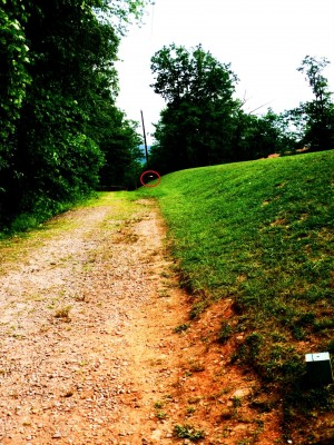 Camp Rockmont for Boys, Camp Rockmont Disc Golf Course , Hole 2 Tee pad