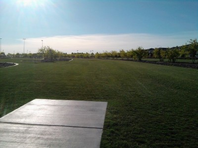 Red Ridge Park, Red Ridge, Hole 7 Tee pad