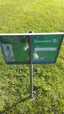 Miller Park, Miller Park, Hole 8 Hole sign