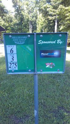 Miller Park, Miller Park, Hole 6 Hole sign