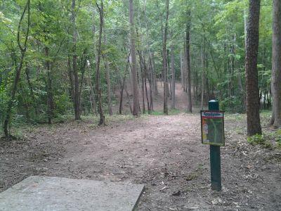 Creekside Park, Creekside Park Disc golf, Hole 16 Long tee pad